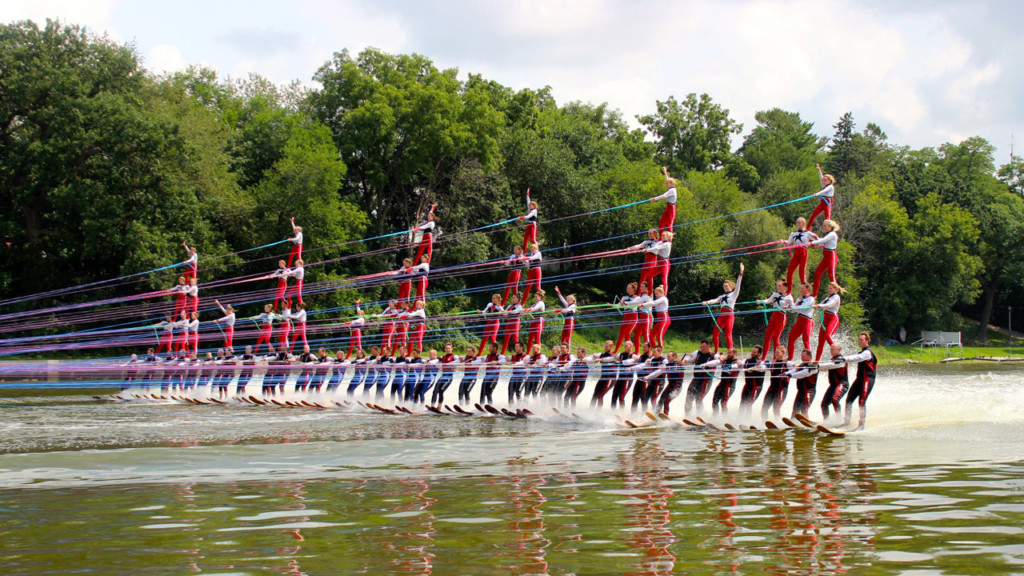 Janesville water ski team creates 80-person pyramid for world record consideration