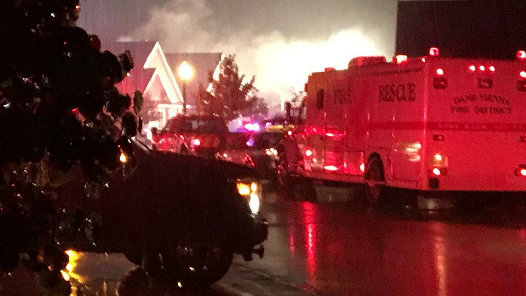 Officials: Firefighters battle house fire in Waunakee; appears to be caused by lightning