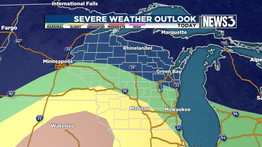 Severe weather possible Wednesday