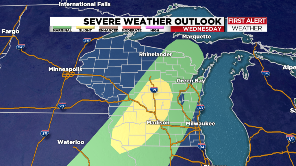 Severe T-storms possible Wednesday night