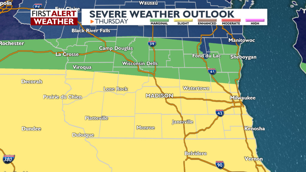 Slight risk for severe storms today; wet through the weekend