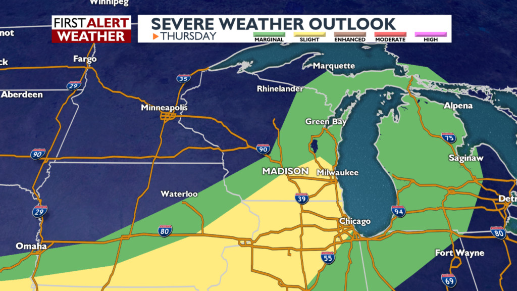 Strong to severe storms possible Thursday