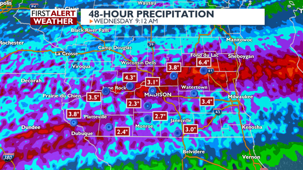 31 days of rain in 31 hours: Madison already above average for October rainfall