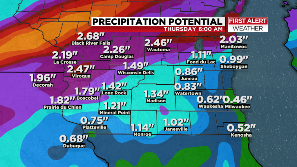 Storms, showers remain in forecast through the week in already waterlogged southern Wisconsin