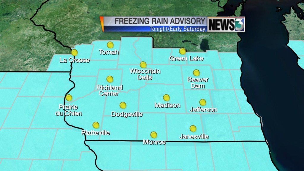 Freezing rain could make slick surfaces Saturday