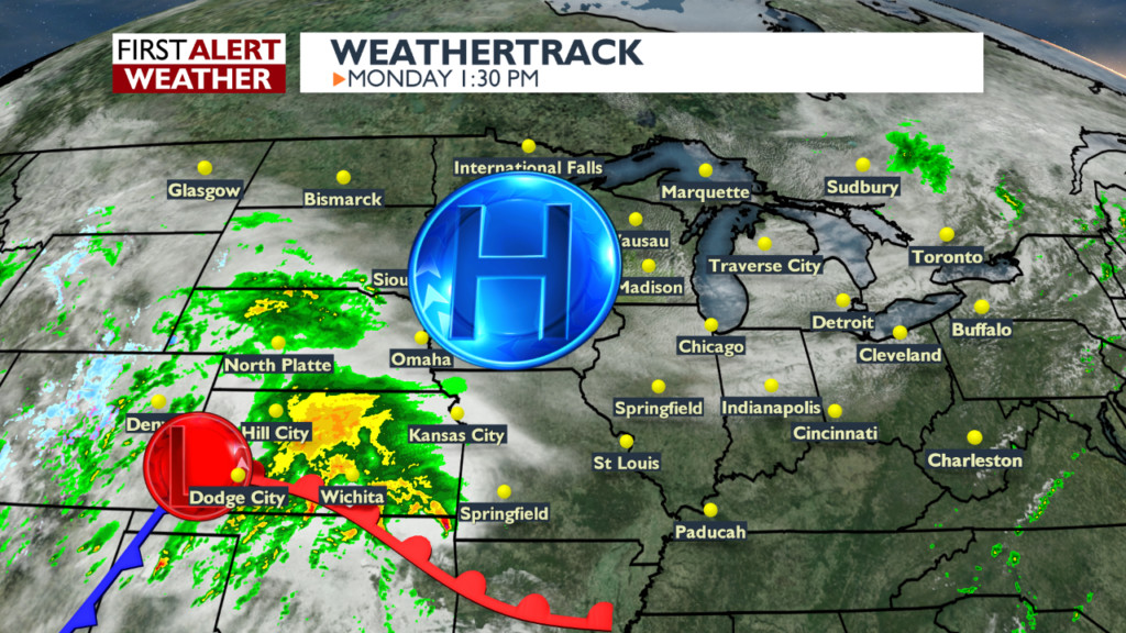 System bringing dangerous storms down south to bring next rain chance in Wisconsin