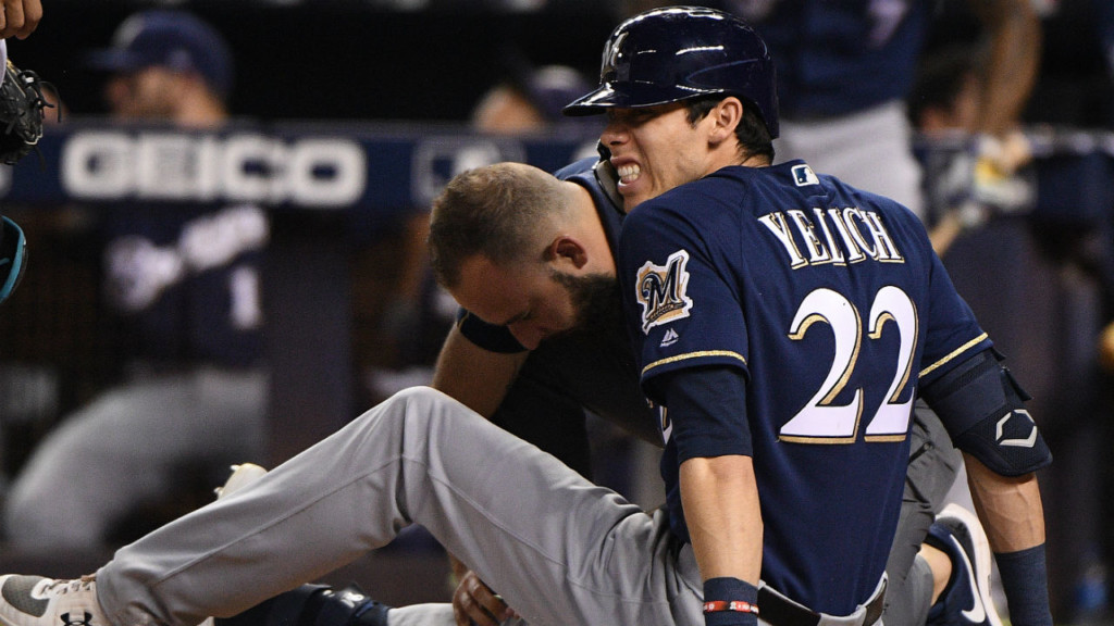 'It means a lot': Brewers' Yelich thanks fans for support following season-ending knee injury