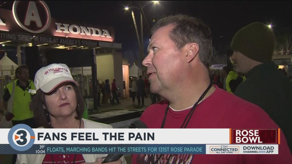 Badgers fans feel the pain
