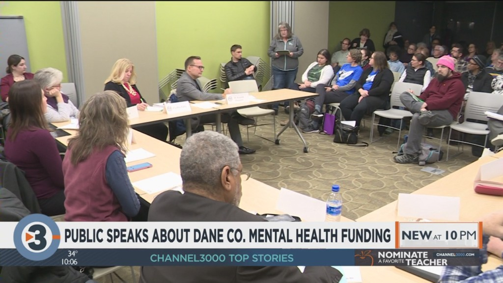 Public speaks about Dane County mental health funding