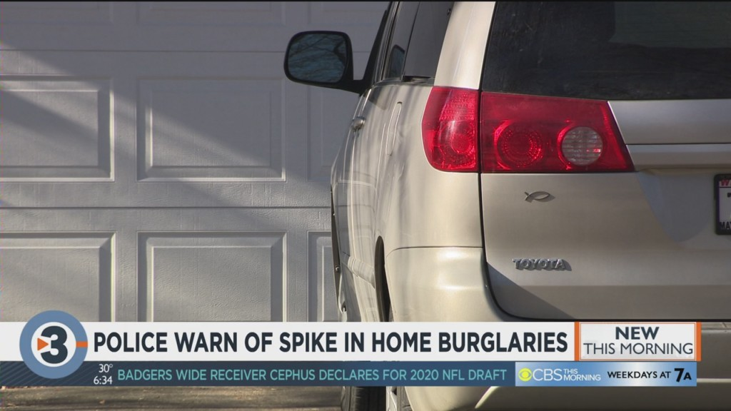 Police warn of spike in home burglaries