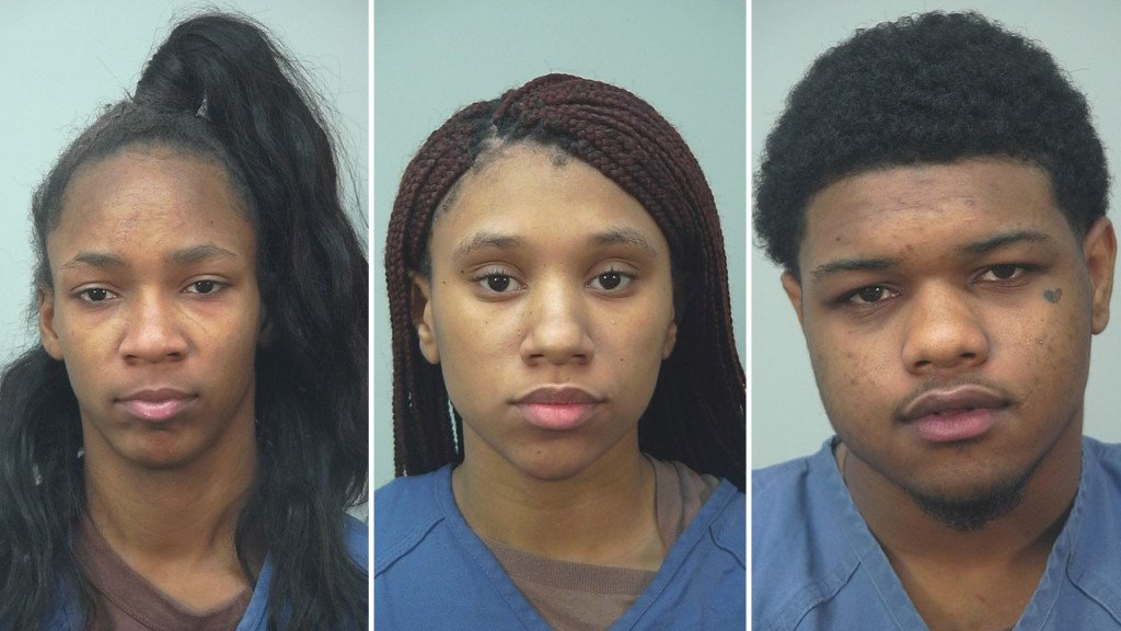 Ashanti Freeman, Toniece Horne, Reginald Sexton booking photos