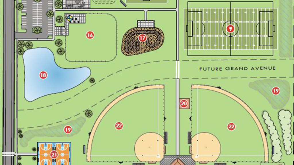A rendering of the plans for a portion of Culver Community Park