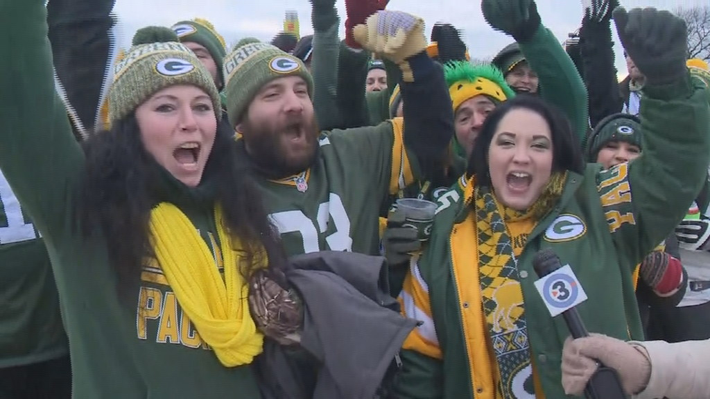 Packer fans celebrating