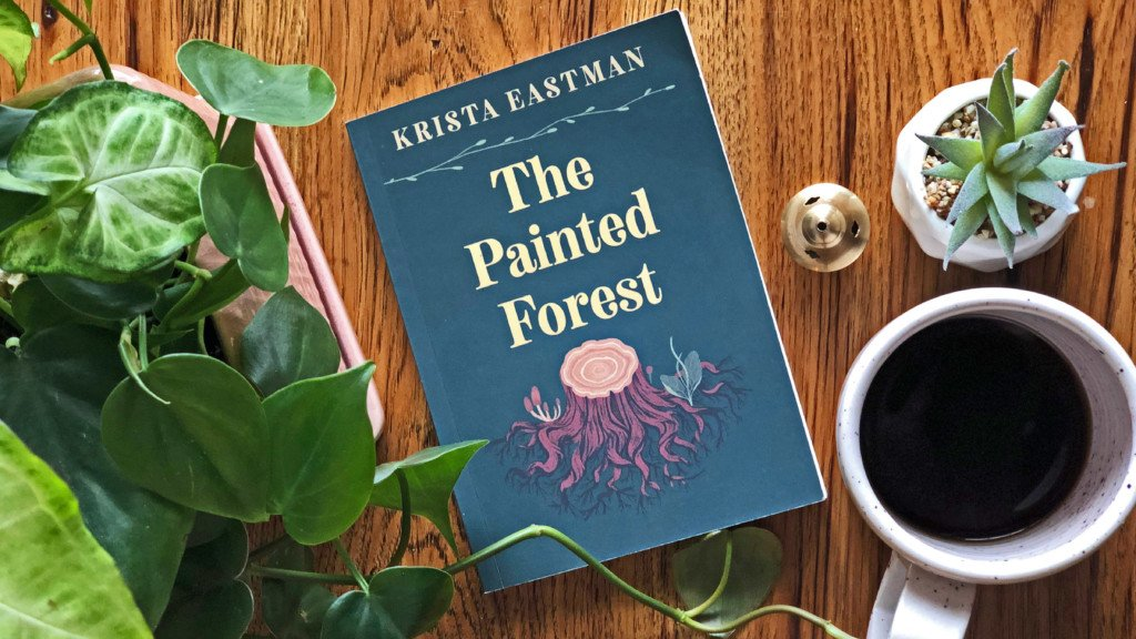 "the book ""The Painted Forest"" on a table"