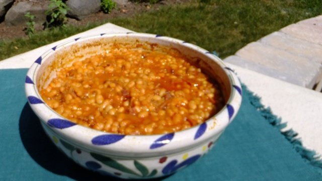 Donna's Homemade Baked Beans With Ham (With Dried Beans)