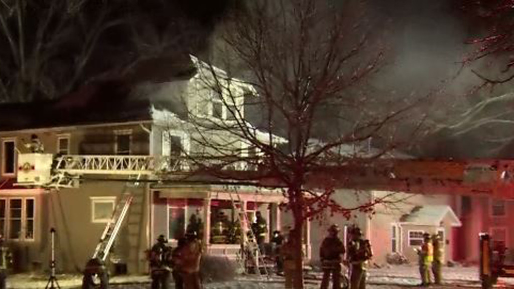 A residential fire in Evansville, Wisconsin