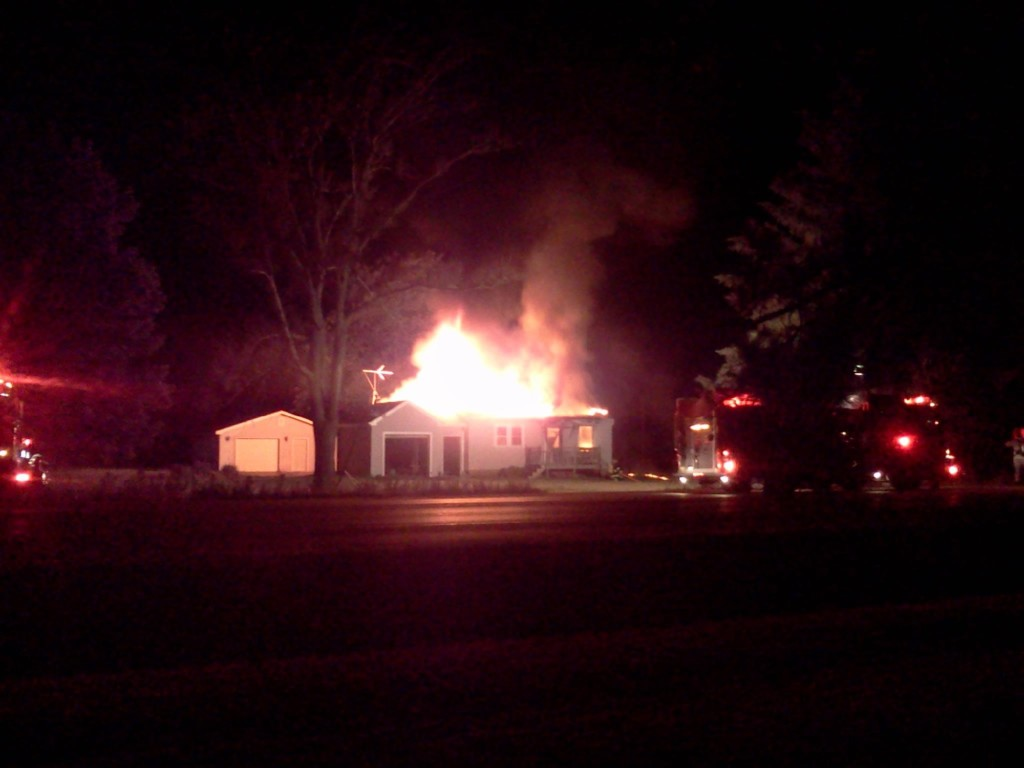 Fire destroys home in Town of Beloit