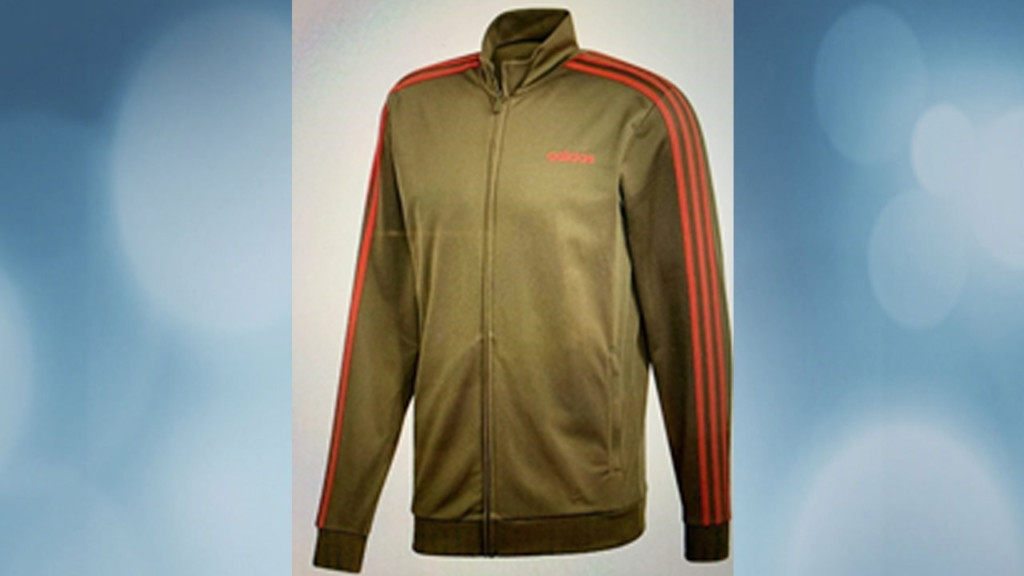 Brown jacket with red striping