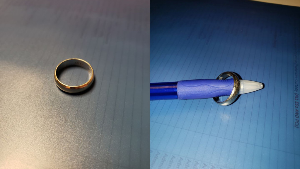 Photos of a missing ring
