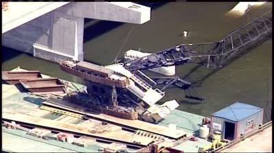 One dead, 1 seriously injured in crane collapse
