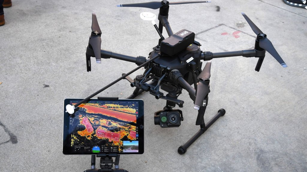 Police drone and controller