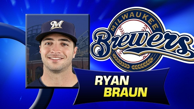 Braun batting 3rd for NL All-Stars