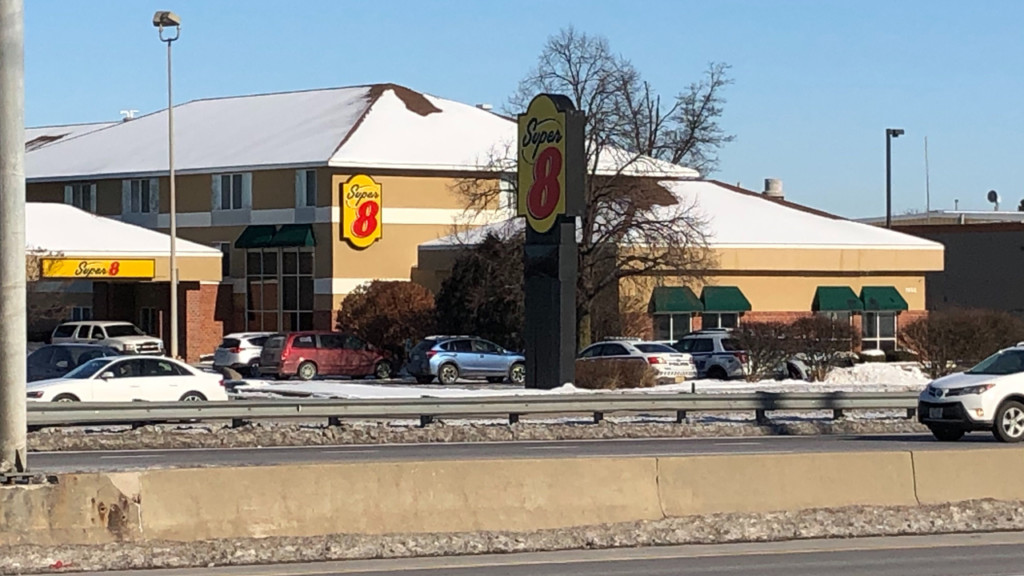 Outside view of the Super 8 motel off the Beltline
