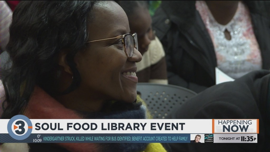 Library holds soul food event