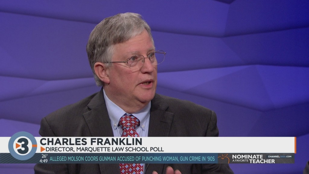 Director Of Marquette Law School Charles Franklin Breaks Down Poll Numbers