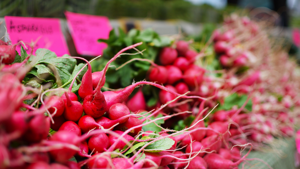 radishes piled high