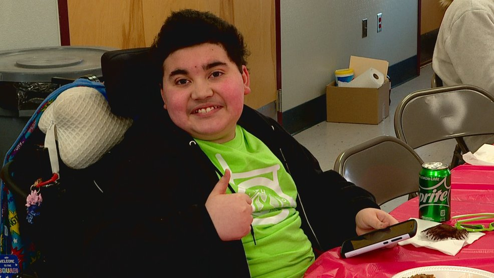 Javon Clark, 13, who was diagnosed with Duchenne muscular dystrophy