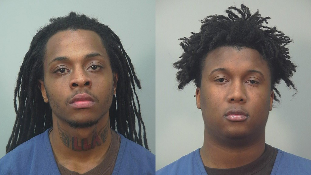 Mugshots of Sedrick Johnson and Treyvon Hollerway