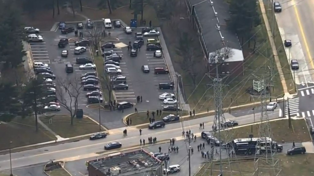 Law enforcement respond to a shooting in Baltimore