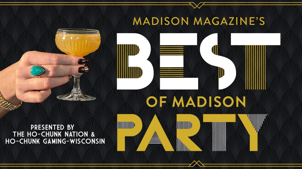 best of Madison Party logo with a hand holding a cocktail