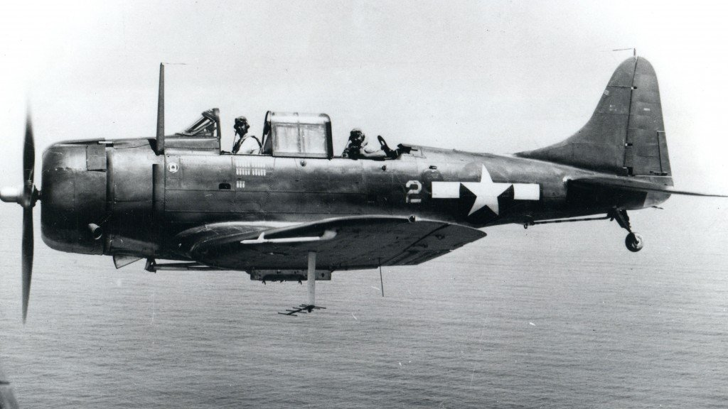 SBD-5 Dauntless in flight