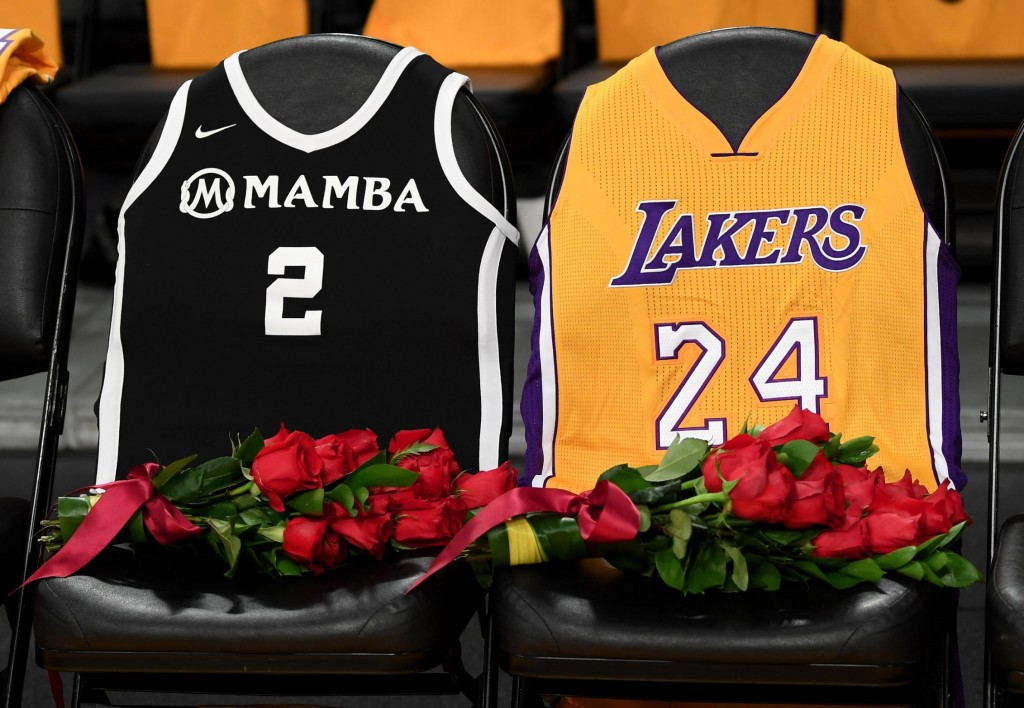 Two Lakers jerseys set out to honor the victims of