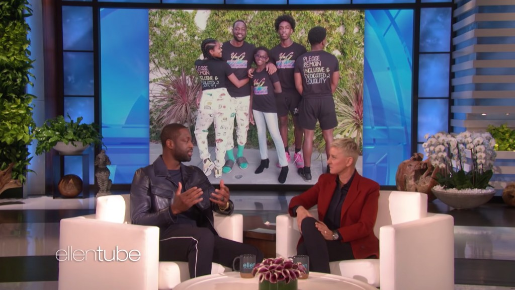 Dwayne Wade makes an appearance on Ellen