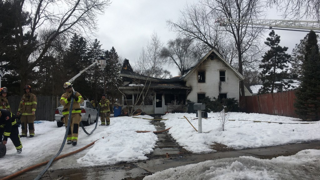 A Portage residence fire