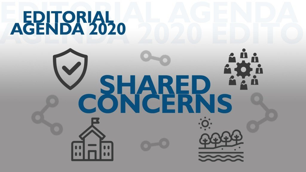 A graphic for Neil Heinen's Shared Concerns editorials