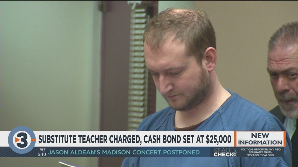Substitute Teacher Charged, Cash Bond Set At $25,000