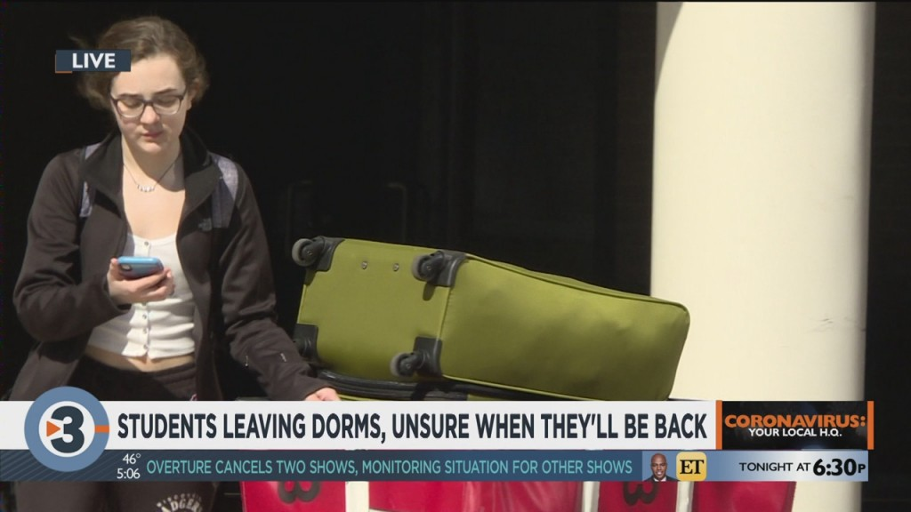 Students Leaving Dorms, Unsure When They'll Be Back