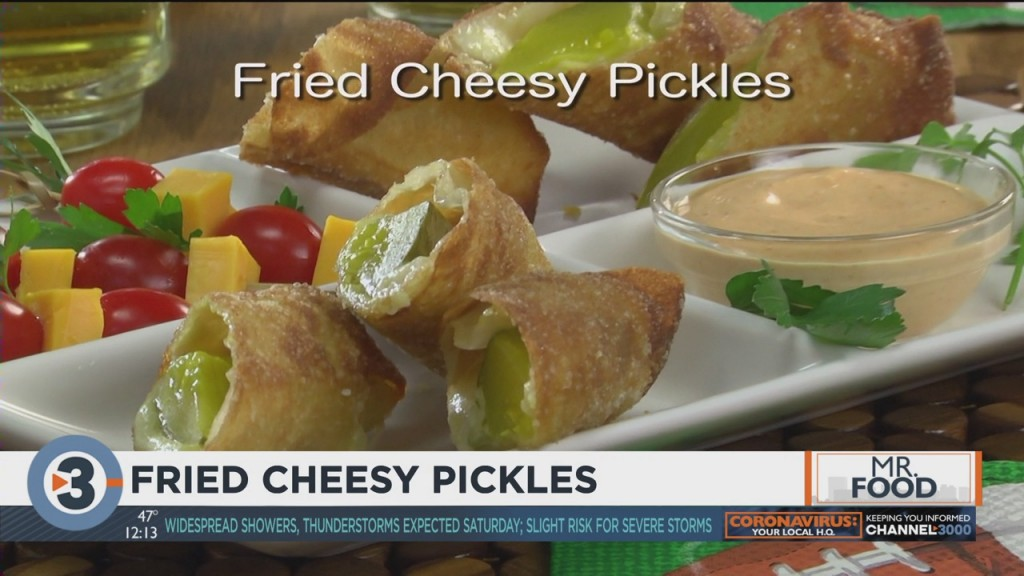 Mr. Food: Fried Cheesy Pickles
