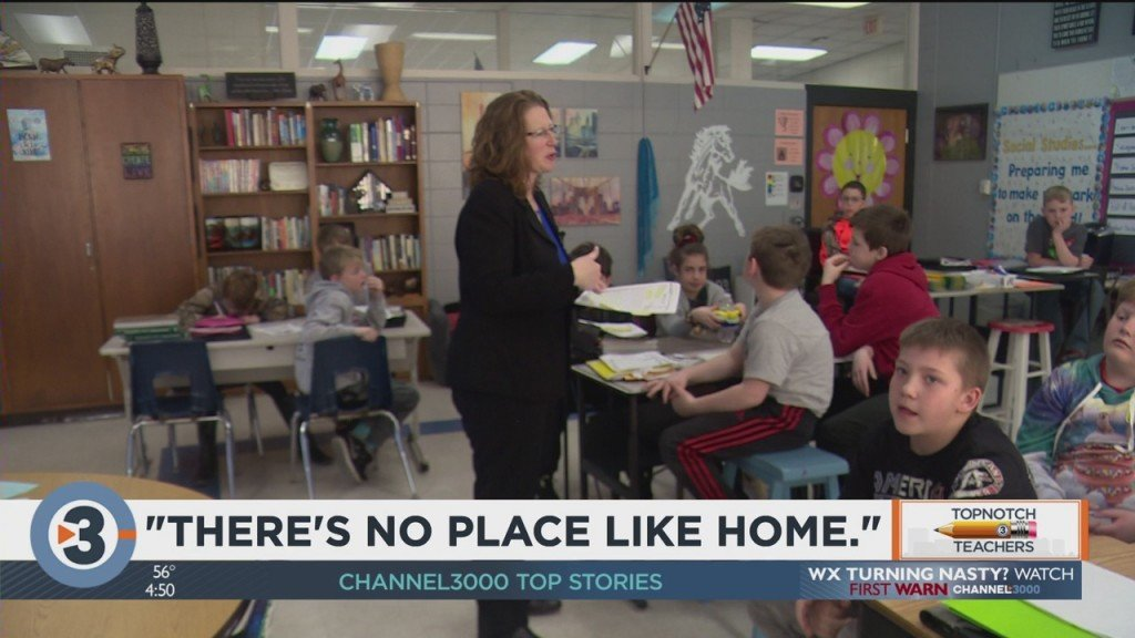 March's Topnotch Teacher: 'there's No Place Like Home'