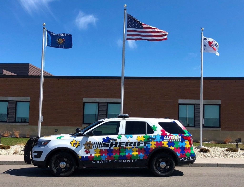 Autism Awareness squad car