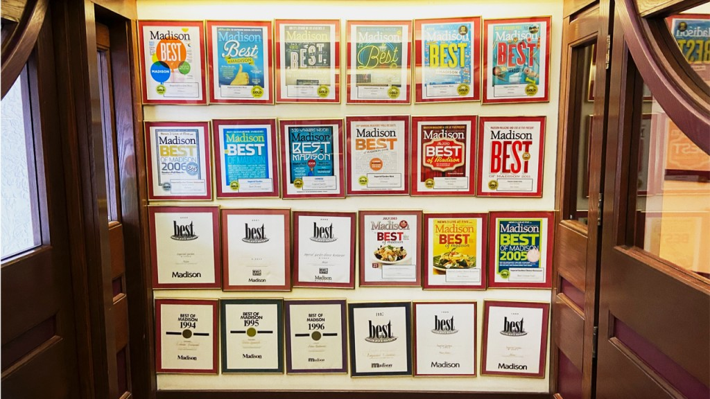 row of best of Madison covers at Imperial Garden