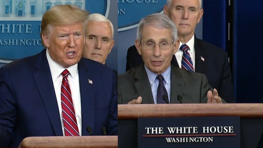 President Trump and Anthony Fauci