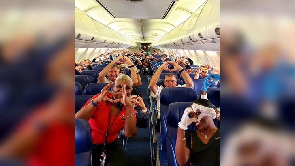 Southwest Flight Healthcare Workers
