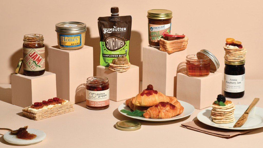 Locally made jams and jellies, also a peanut butter and a honey