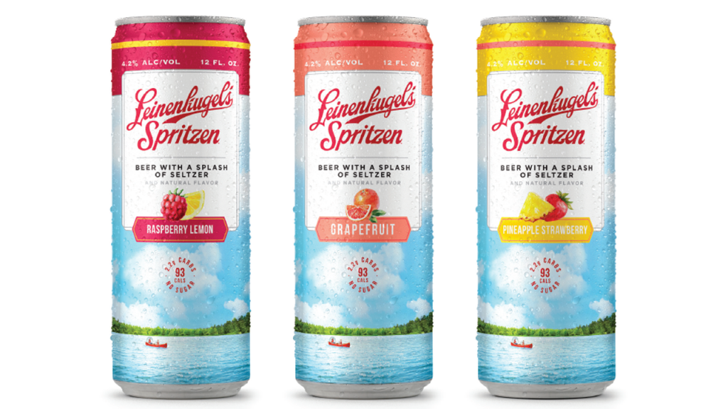 three cans of Leinenkugel's Spritzen