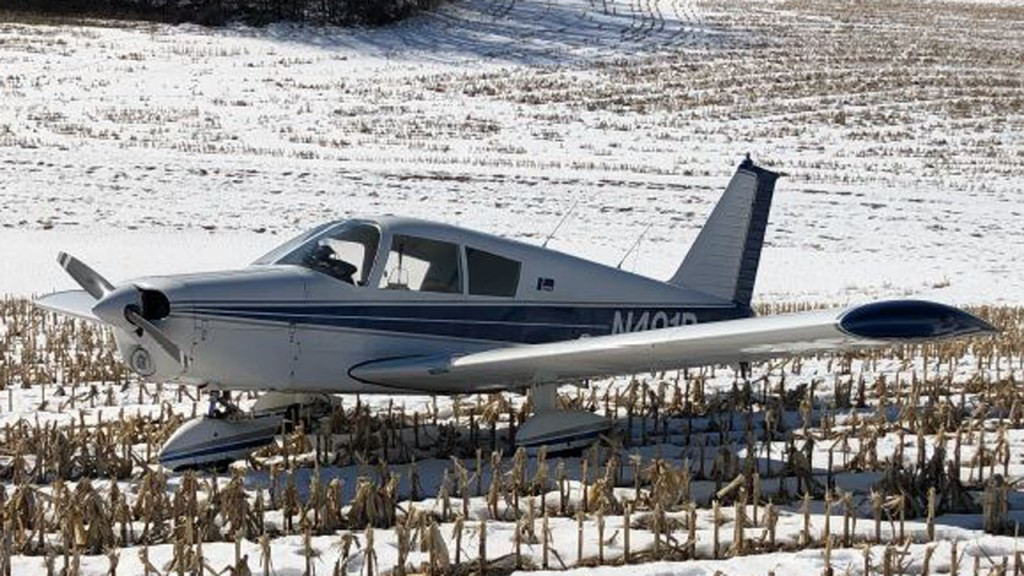 A plane crashed in Marion, Wisconsin